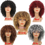 Kinky Curly Blonde Mixed Synthetic Long Wigs