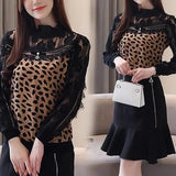Leopard Print Chic Long Sleeve Top