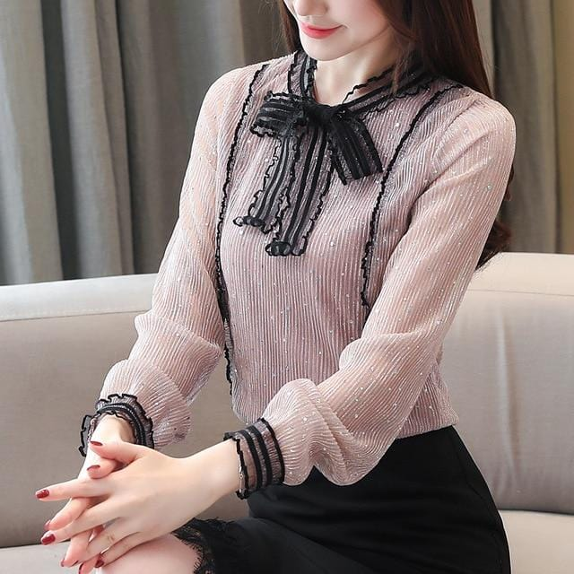 Bow Tie Fashion Beading Top