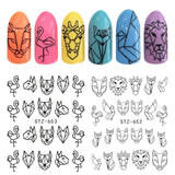 Abstract Decoration Nail Art Sticker