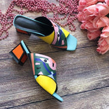 Fashion Prints Leather High Heel Pumps