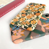 Colorful Flower Floral Leaf iPhone Case
