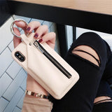 New Style Zipper PU Leather iPhone Case
