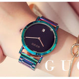 Colorful Montre Women Bracelet Watch Black