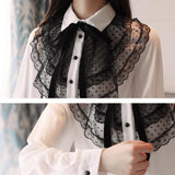 Chiffon Long Sleeve Korean Lace Top