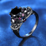 Crystal Colorful Zircon Women Ring