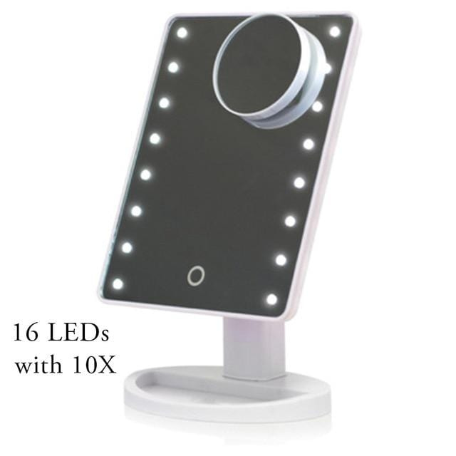 22/16 LEDs Touch Cosmetic Makeup Mirror