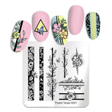 Flowers Plates Nail Art Image Stamping