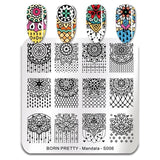 Flowers Petals Nail Art Image Stamping