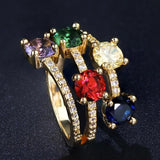 Multi Color Crystal Ring Multi