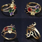 Multi Color Crystal Ring