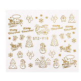 Nail Art  Water Gold Silver Decals