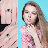 Created Nano Emerald Sterling Silver Ring