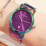 Colorful Montre Women Bracelet Watch Purple