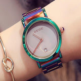 Colorful Montre Women Bracelet Watch Gray
