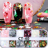 Nail Sequins Colorful Flakes Glitter Powder