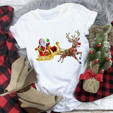 Santa On Move Christmas Tshirt