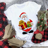 Happy Santa With Gifts Christmas T-Shirt