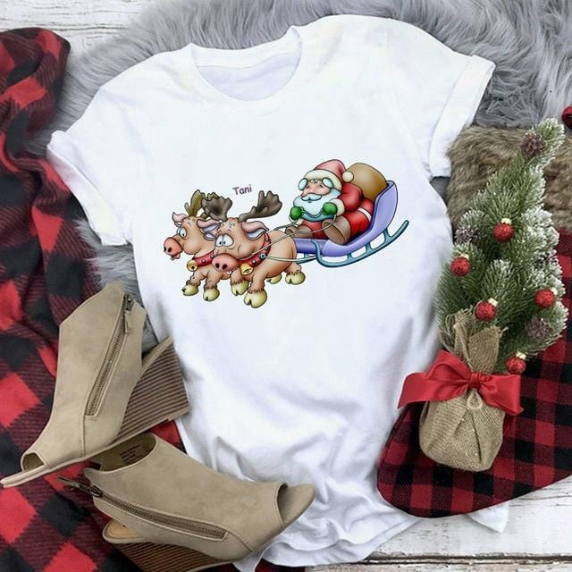 Santa On Move Christmas T-shirt