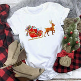 Cute Santa Christmas Theme T-shirt