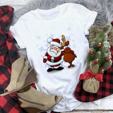 Santa And Reindeer T-Shirt