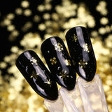 Christmas Hollow Out Gold Nail Glitter Sequins Decorations
