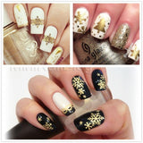 Hollow Out Gold Nail Glitter Sequins Decorations