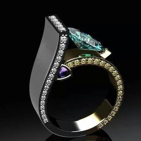 Luxury Crystal Zircon Ring