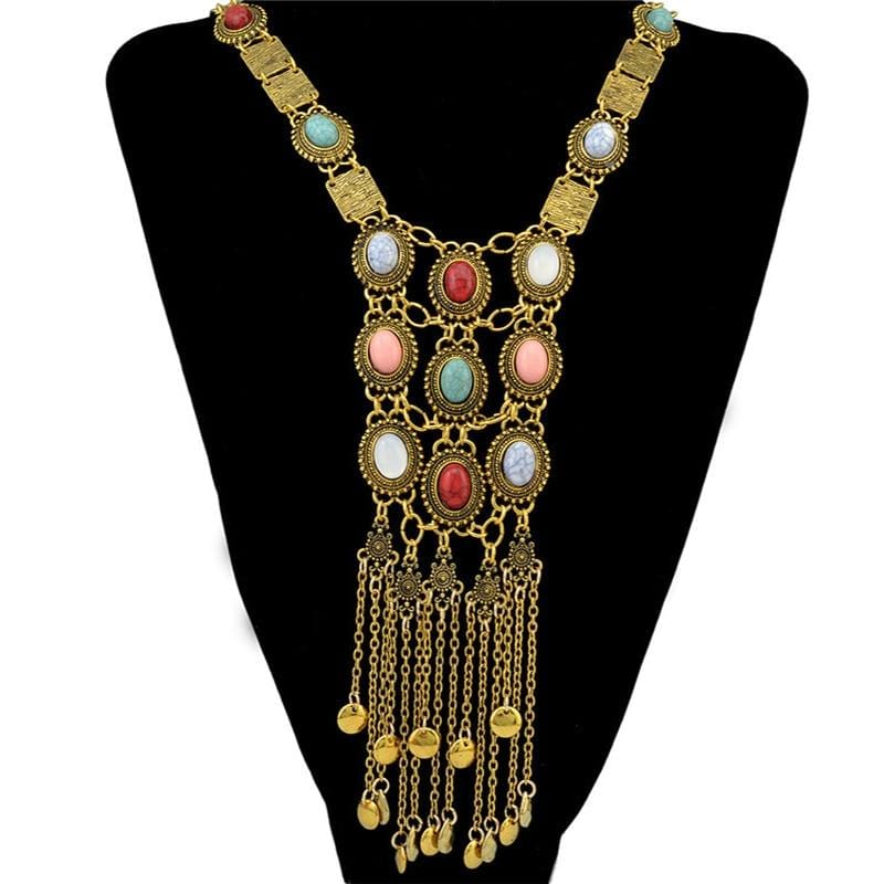 Bohomian Long Ethnic Necklace