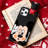 Cartoon Mickey Mouse Wink Matte iPhone Case