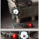 Vintage Beads Simple Pendants Necklace