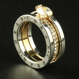 Crystal Gold Color Zirconia Brand Rings