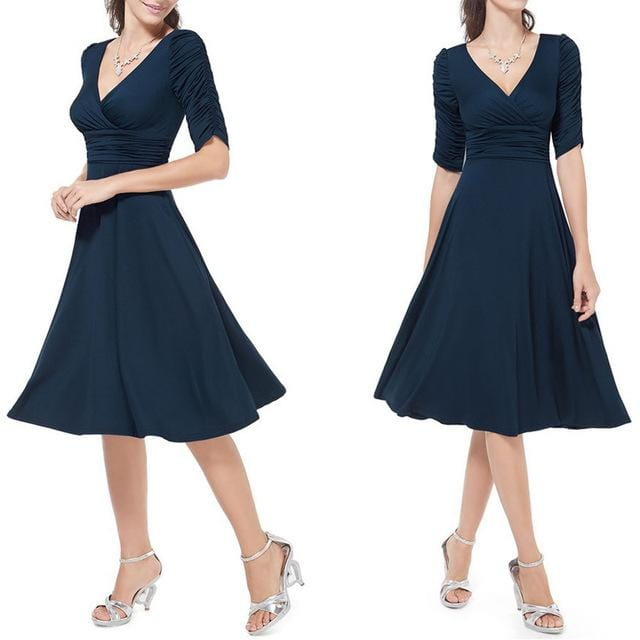 Evening Party  Wrap Dress Blue