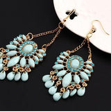 Sky Blue Water Drop Dangle Earring