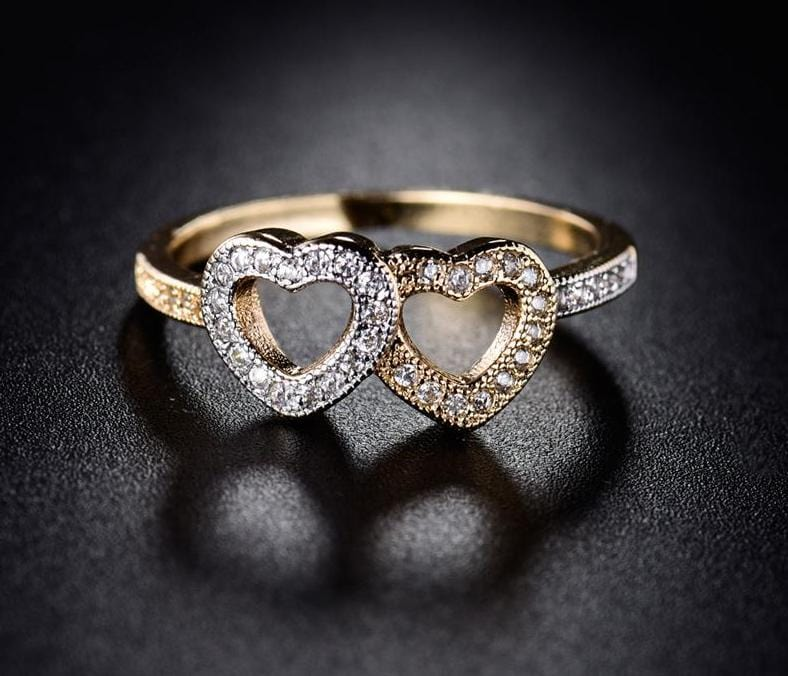 Together Two Hearts Ring