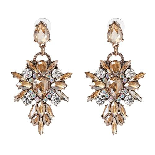 Starbust Elegant Earrings Brown