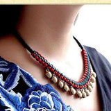 Handmade Statement Bell Choke Necklace