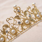 Crystal Pearl Rhinestone Crown