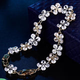Crystal Silver/Gold Color Flower Bracelet White Gold