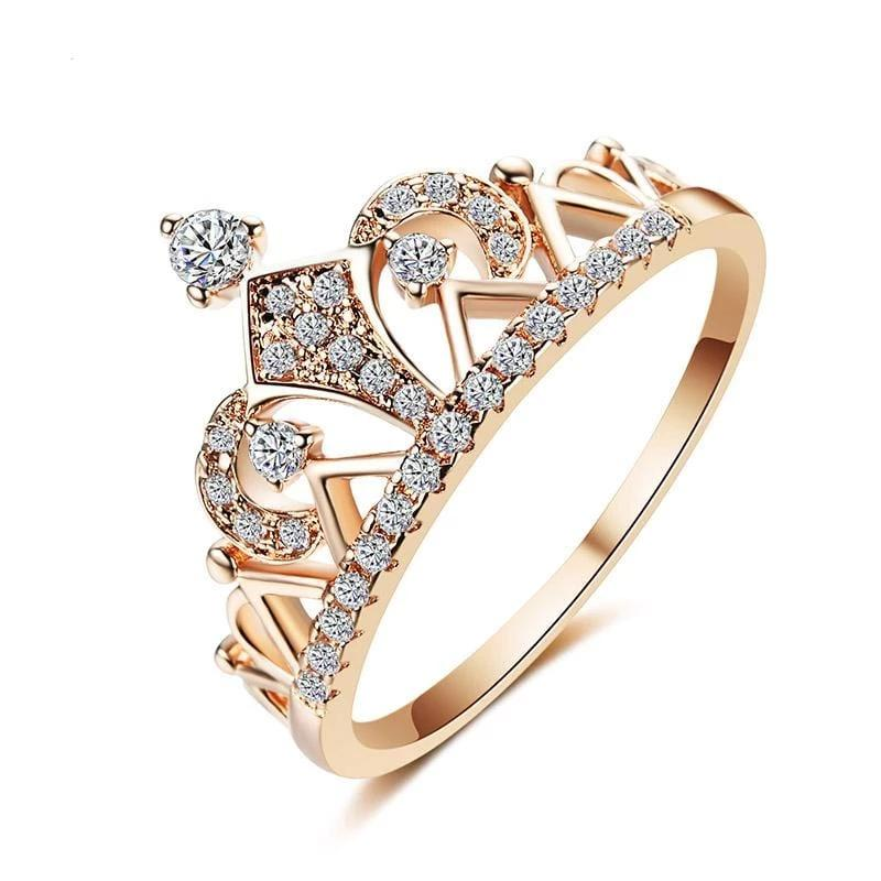 Crown Shape Unique Cute Ring Rose Gold