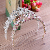 Crystal Rhinestone Handmade Wedding Crown White