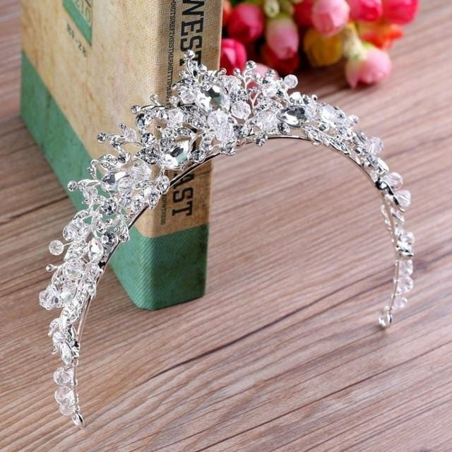 Crystal Rhinestone Handmade Wedding Crown
