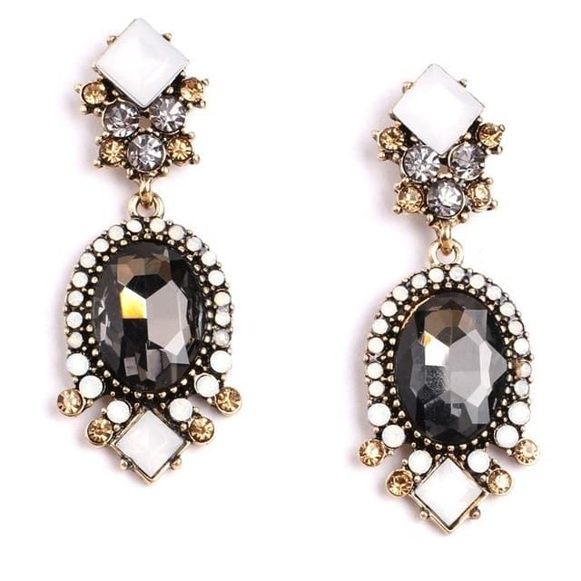 Crystal Pushback Cheap Elegant Stud Earring