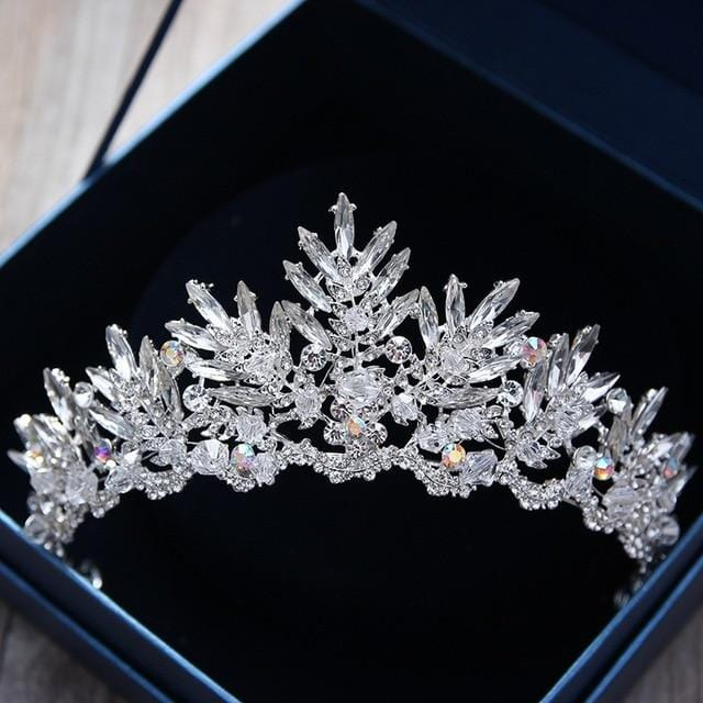 Crystal Rhinestone Bridal Crown White