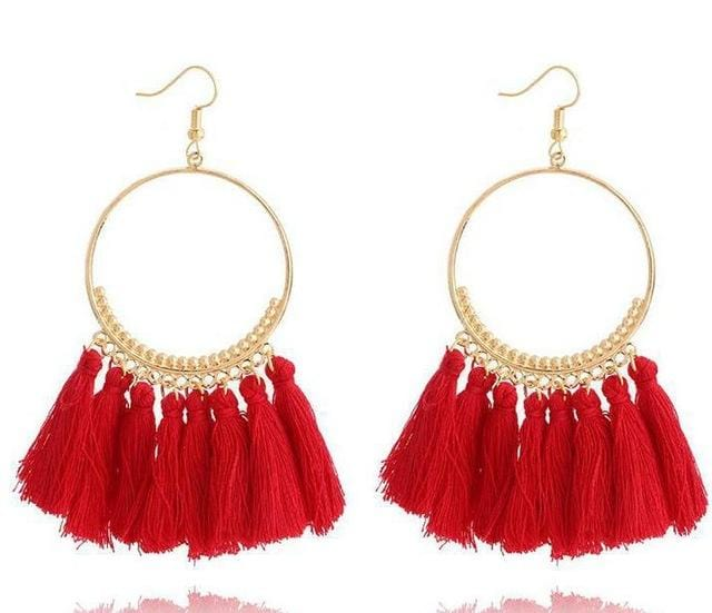 Bohemian Drop Tassel Earrings