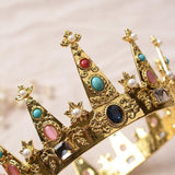 Multicolour Rhinestone Tiara Crown