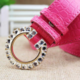 Luxury Colorful G Buckle Brand Women Belts Rose