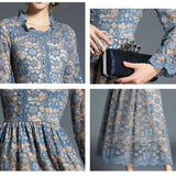 Elegant Lace Work Casual Dress