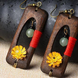 Handmade Wooden Ethnic Women Earrings
