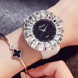 Elegant Crystals Ring Big Watch